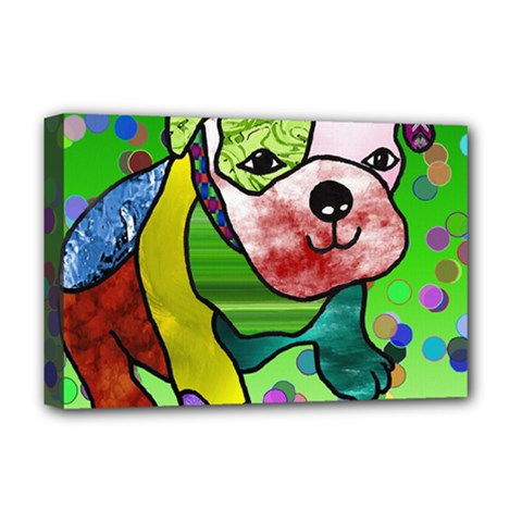 Pug Deluxe Canvas 18  x 12  (Framed)