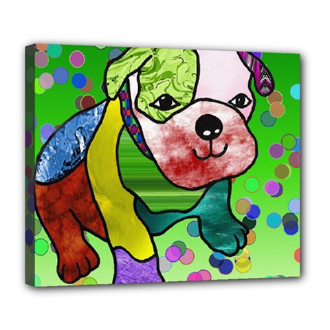 Pug Deluxe Canvas 24  x 20  (Framed)