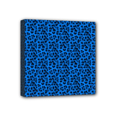 Leopard Print Mini Canvas 4  x 4  (Framed)