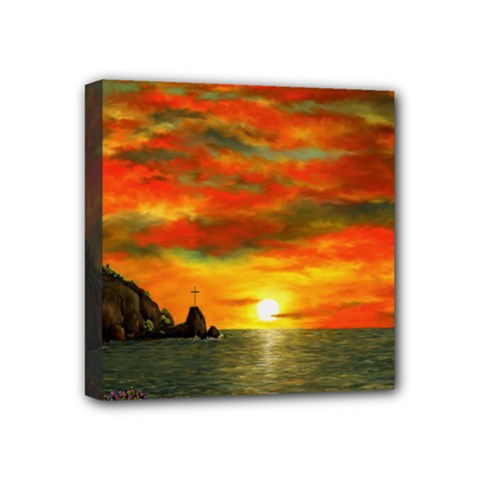 Alyssa s Sunset by Ave Hurley ArtRevu - Mini Canvas 4  x 4  (Stretched)