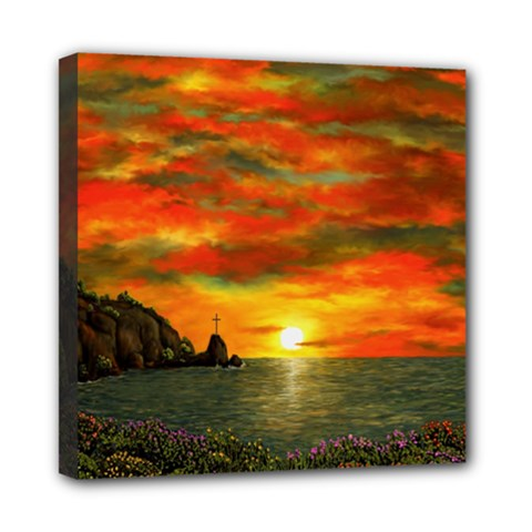 Alyssa s Sunset by Ave Hurley ArtRevu - Mini Canvas 8  x 8  (Stretched)