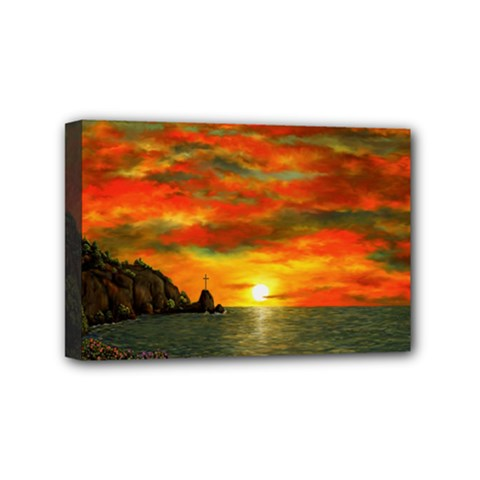 Alyssa s Sunset by Ave Hurley ArtRevu - Mini Canvas 6  x 4  (Stretched)