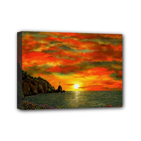 Alyssa s Sunset by Ave Hurley ArtRevu - Mini Canvas 7  x 5  (Stretched)