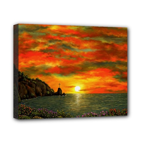 Alyssa s Sunset By Ave Hurley Artrevu   Canvas 10  X 8  (stretched)