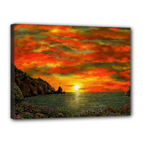 Alyssa s Sunset by Ave Hurley ArtRevu - Canvas 16  x 12  (Stretched)