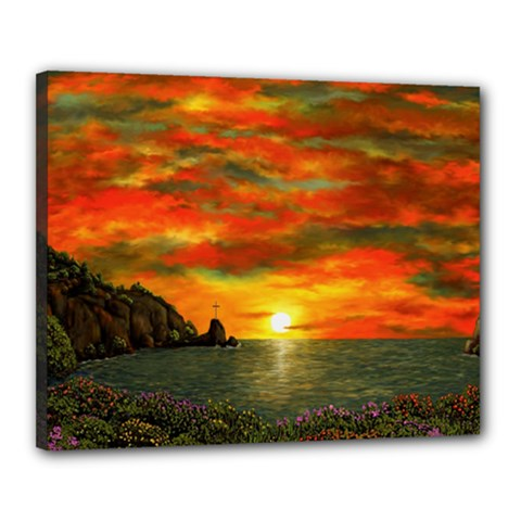 Alyssa s Sunset By Ave Hurley Artrevu   Canvas 20  X 16  (stretched)