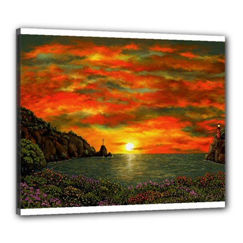 Alyssa s Sunset by Ave Hurley ArtRevu - Canvas 24  x 20  (Stretched)