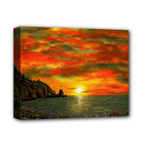 Alyssa s Sunset by Ave Hurley ArtRevu - Deluxe Canvas 14  x 11  (Stretched)