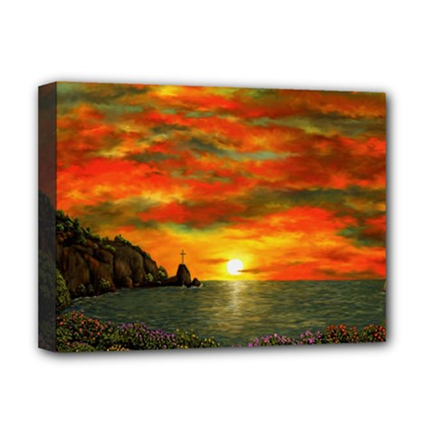Alyssa s Sunset by Ave Hurley ArtRevu - Deluxe Canvas 16  x 12  (Stretched)