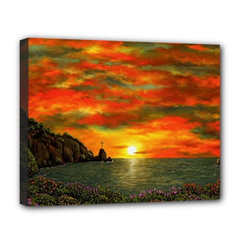 Alyssa s Sunset By Ave Hurley Artrevu   Deluxe Canvas 20  X 16  (stretched)