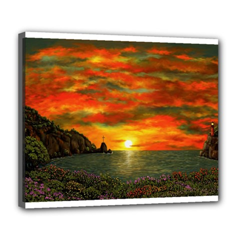 Alyssa s Sunset by Ave Hurley ArtRevu - Deluxe Canvas 24  x 20  (Stretched)