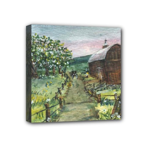 Amish Apple Blossoms  by Ave Hurley of ArtRevu ~ Mini Canvas 4  x 4  (Stretched)