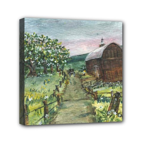 Amish Apple Blossoms  by Ave Hurley of ArtRevu ~ Mini Canvas 6  x 6  (Stretched)