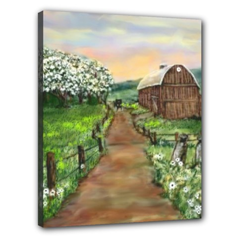 amish Apple Blossoms  By Ave Hurley Of Artrevu   Canvas 20  X 16  (stretched)