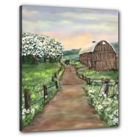 amish Apple Blossoms  By Ave Hurley Of Artrevu   Canvas 24  X 20  (stretched)