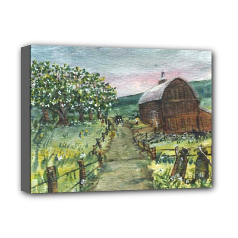 amish Apple Blossoms  By Ave Hurley Of Artrevu   Deluxe Canvas 16  X 12  (stretched)