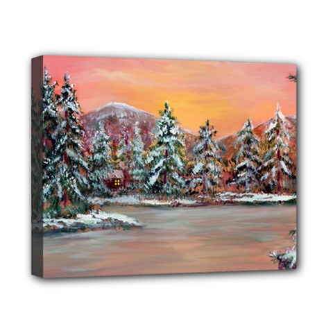Jane s Winter Sunset   by Ave Hurley of ArtRevu ~ Canvas 10  x 8  (Stretched)