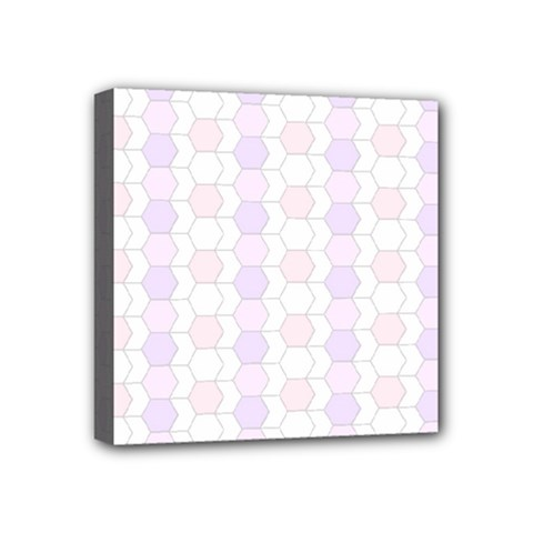 Allover Graphic Soft Pink Mini Canvas 4  x 4  (Framed)