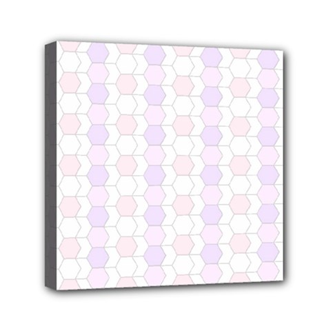 Allover Graphic Soft Pink Mini Canvas 6  x 6  (Framed)