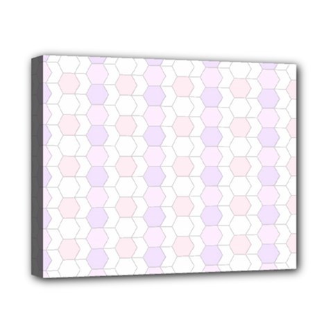 Allover Graphic Soft Pink Canvas 10  x 8  (Framed)