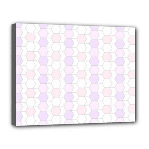Allover Graphic Soft Pink Canvas 14  X 11  (framed)