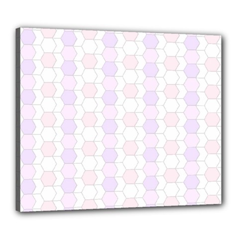 Allover Graphic Soft Pink Canvas 24  x 20  (Framed)
