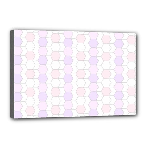 Allover Graphic Soft Pink Canvas 18  X 12  (framed)
