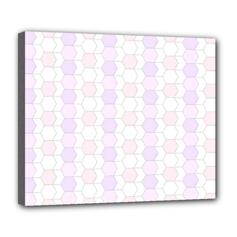 Allover Graphic Soft Pink Deluxe Canvas 24  X 20  (framed)