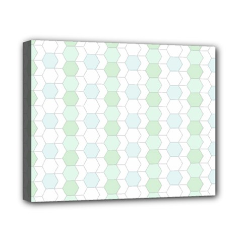 Allover Graphic Soft Aqua Canvas 10  X 8  (framed)
