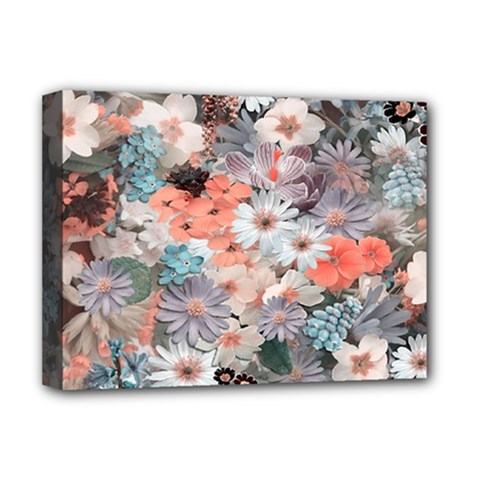 Spring Flowers Deluxe Canvas 16  x 12  (Framed)