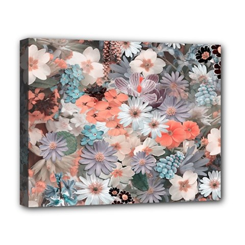 Spring Flowers Deluxe Canvas 20  X 16  (framed)