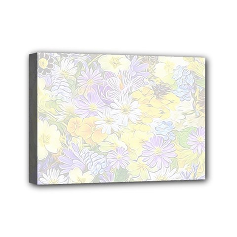 Spring Flowers Soft Mini Canvas 7  x 5  (Framed)