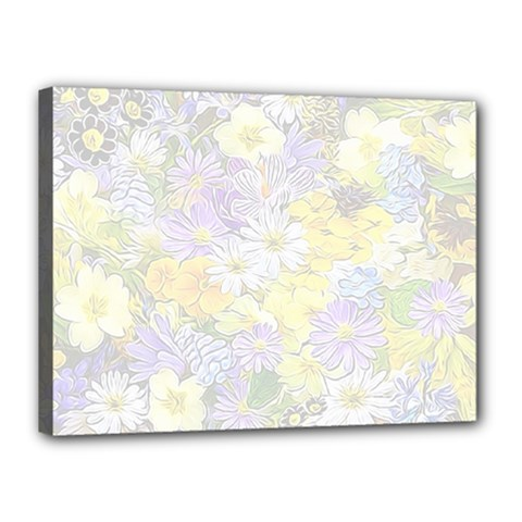 Spring Flowers Soft Canvas 16  X 12  (framed)