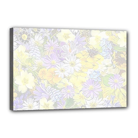 Spring Flowers Soft Canvas 18  x 12  (Framed)