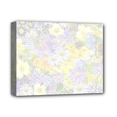 Spring Flowers Soft Deluxe Canvas 14  X 11  (framed)