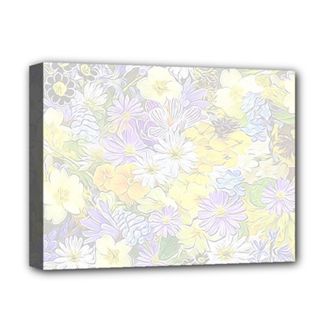 Spring Flowers Soft Deluxe Canvas 16  x 12  (Framed)