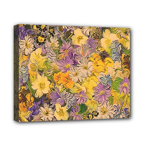 Spring Flowers Effect Canvas 10  x 8  (Framed)
