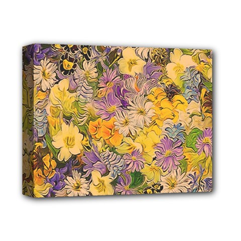 Spring Flowers Effect Deluxe Canvas 14  x 11  (Framed)