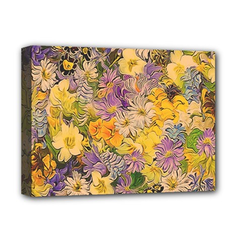 Spring Flowers Effect Deluxe Canvas 16  x 12  (Framed)