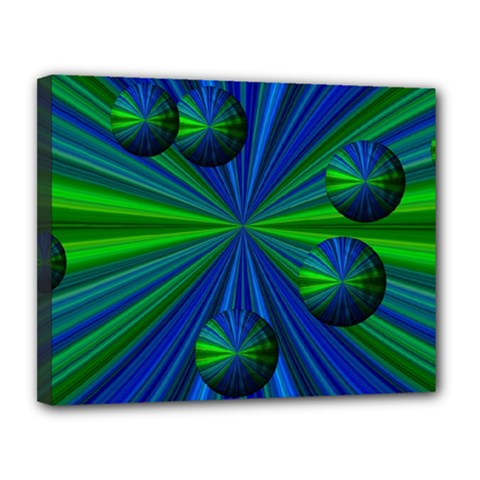 Magic Balls Canvas 14  X 11  (framed)