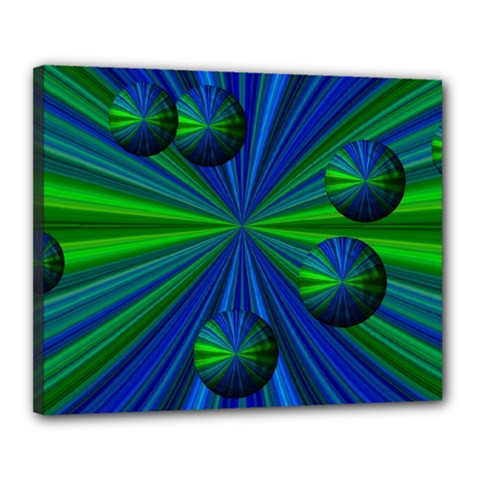 Magic Balls Canvas 20  X 16  (framed)