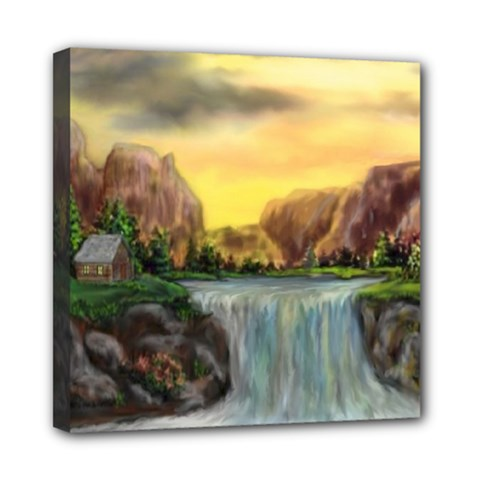 Brentons Waterfall - Ave Hurley - ArtRave - Mini Canvas 8  x 8  (Framed)