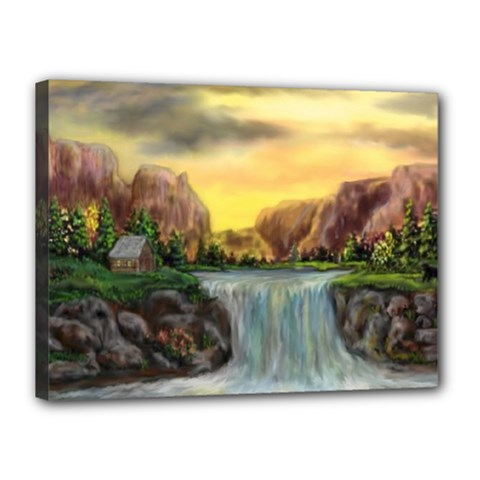 Brentons Waterfall   Ave Hurley   Artrave   Canvas 16  X 12  (framed)
