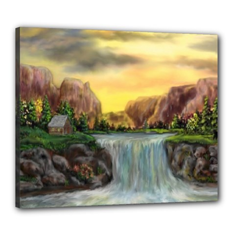 Brentons Waterfall - Ave Hurley - ArtRave - Canvas 24  x 20  (Framed)