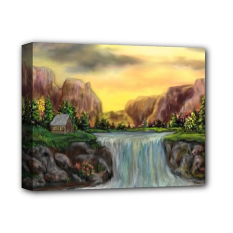 Brentons Waterfall - Ave Hurley - ArtRave - Deluxe Canvas 14  x 11  (Framed)