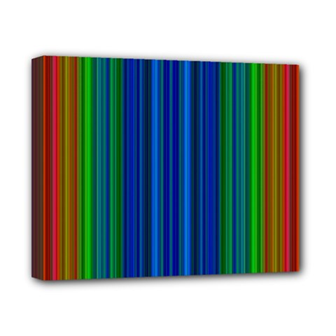 Strips Canvas 10  x 8  (Framed)