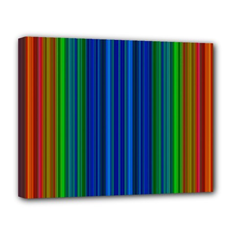 Strips Canvas 14  x 11  (Framed)