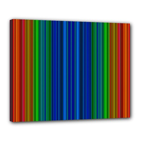 Strips Canvas 20  x 16  (Framed)