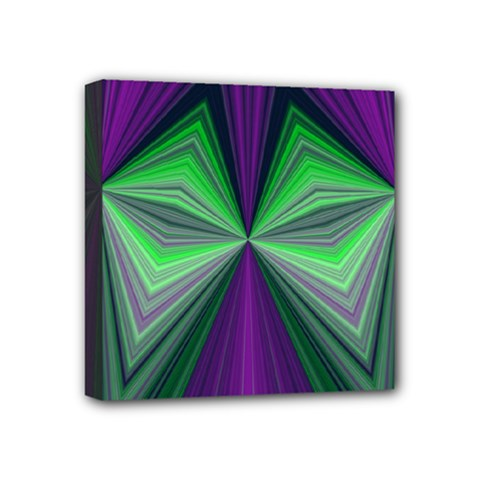 Abstract Mini Canvas 4  x 4  (Framed)