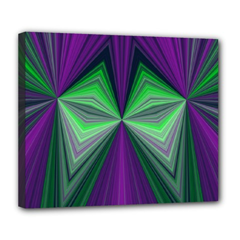 Abstract Deluxe Canvas 24  x 20  (Framed)
